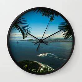 Bay - Rio - photo series Wall Clock