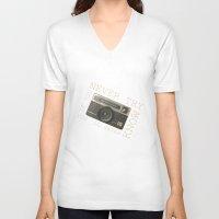 vintage camera V-neck T-shirts featuring CAMERA by Monika Strigel