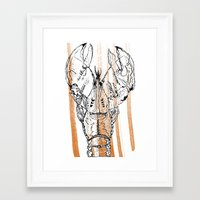 lobster Framed Art Prints featuring Lobster by HBDesign