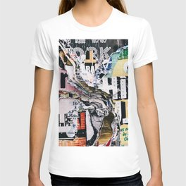 Torn mexican posters wall T-shirt