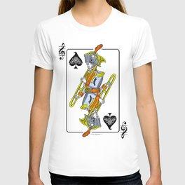 musical poker / trombone T-shirt