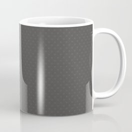 Pantone Pewter Gray Tiny Polka Dots Symmetrical Pattern Solid Color Coffee Mug
