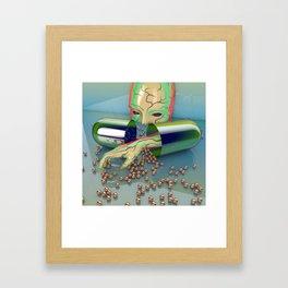Clawing Addiction Framed Art Print