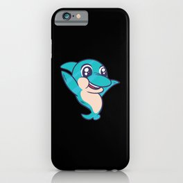 Cute blue Dolphin gifts for kids ocean animals iPhone Case