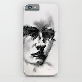 Minimal Portrait in Charcoal iPhone Case