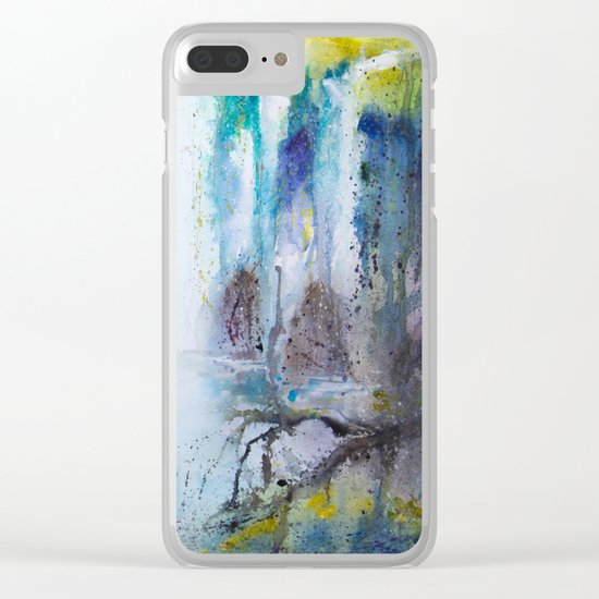 Deep in the forest Clear iPhone Case