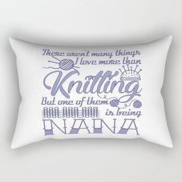 Knitting Nana Rectangular Pillow