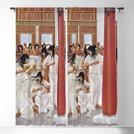 "Classical Masterpiece ""The Court of Pharaoh and the High Priestess"" by H.M. Herget Blackout Curtain"