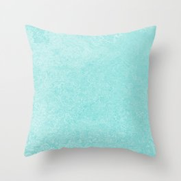 Pastel Teal Blue Grunge Ombre Pastel Texture Vintage Style Throw Pillow