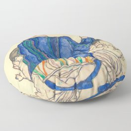 """Egon Schiele """"Seated Woman, Back View"""" Floor Pillow"""