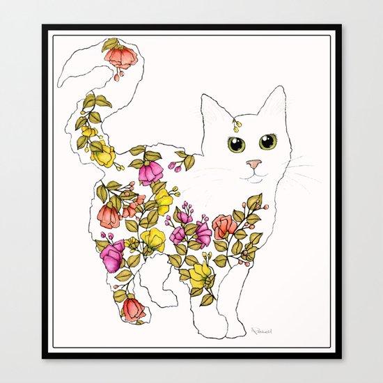 Blossom Cat Canvas Print
