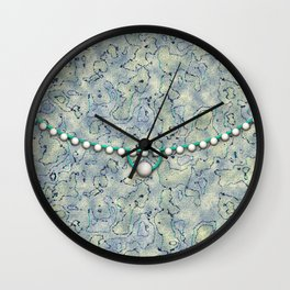 Smokey Pattern with Pearls Wall Clock