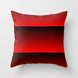 MID CENTURY MODERN BRIGHT RED AND BLACK SUMMER STRIPES Throw Pillow