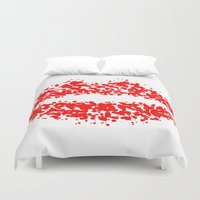 lips Duvet Covers featuring LIPS by ROBAUSCH