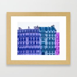 Colorful Paris Buildings Framed Art Print