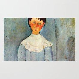 "Amedeo Modigliani ""Little girl in blue"" Rug"