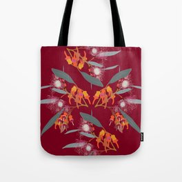 2941 Eucalyptus4-Red-Dark Tote Bag