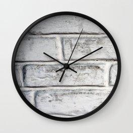 White Brick Wall Wall Clock