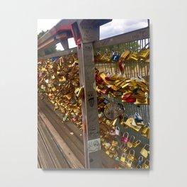 Parisienne Locks of Love Bridge Metal Print