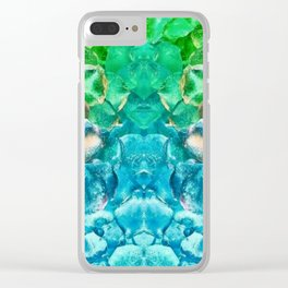 Lava Rock Explosion Clear iPhone Case