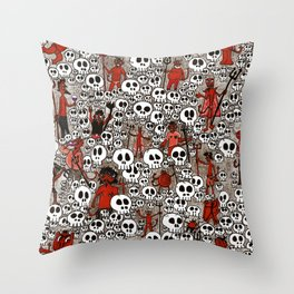Calaveras y Diablitos Throw Pillow