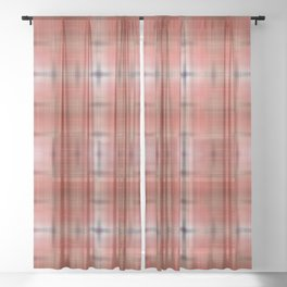 Tie-dye pattern red Sheer Curtain
