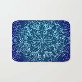 Deep Blue Majestic Mandala Bath Mat