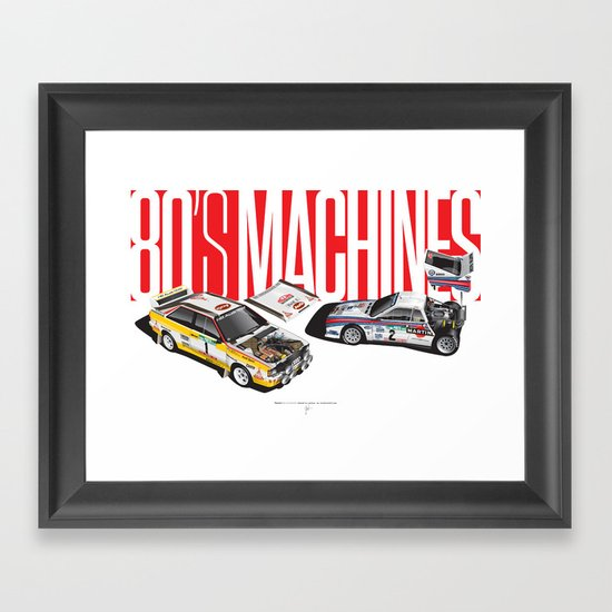 80's Machines Framed Art Print