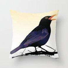 Blackbird Throw Pillow