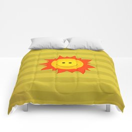Smiling Happy Sun Comforters