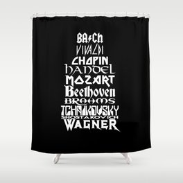 Composers Shower Curtain