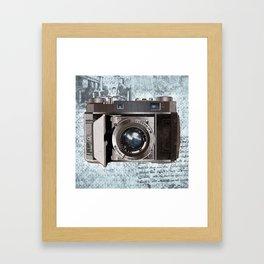 Blue Vintage Camera Art Framed Art Print