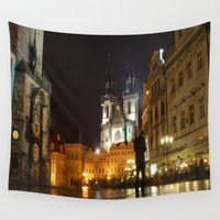 prague Wall Tapestries featuring Prague by lularound