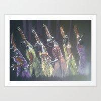 rhythm in color Art Print