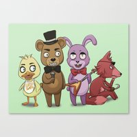 fnaf Canvas Prints featuring FNAF - AC Style by msaibee