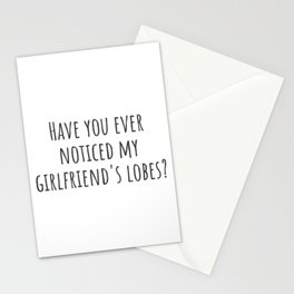 My Girlfriend's Lobes Stationery Cards