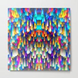 Colorful digital art splashing G390 Metal Print