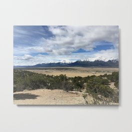 Snow-Capped Mountains Metal Print