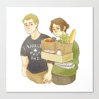 stucky Canvas Prints featuring stucky domestic by maria euphemia