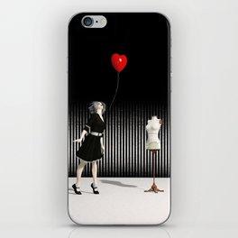 The Heart-Shaped Balloon - Surreal Art iPhone Skin