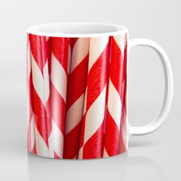 Red Striped Straws Coffee Mug