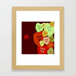 Cupid in search mode-Vintage Framed Art Print