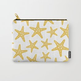 Sweet Starfish Pattern 227 Yellow Carry-All Pouch