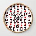 Circles Squares Black Red White by loeye