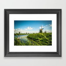 The wind mills of the Netherlands Framed Art Print