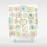 frames Shower Curtains featuring Frames by maria carluccio