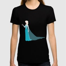 Queen Elsa Black Womens Fitted Tee LARGE
