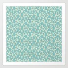 Lluvia Azul Art Print