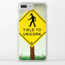 Yield To Unicorn Clear iPhone Case