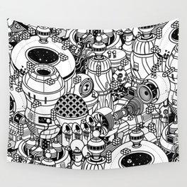Dark Matter Space Machine Wall Tapestry